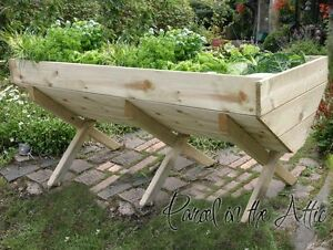 Large Garden Vegetable Veg Trough Wooden Timber Raised Bed Planter for Veg Herbs