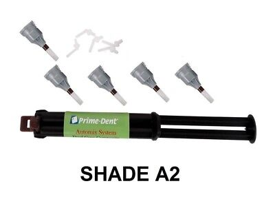 Dental Adhesive Cement Luting Dual Cure Automix Syringe A2 Prime Dent Fda