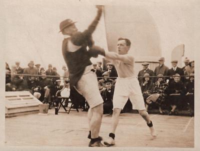 RMS MAURETANIA BOXING MATCH Original Antique Photograph 1926