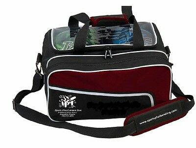 Sports Plus/KR 2 Ball Tote Bowling Bag with shoe pocket Burgundy/Black