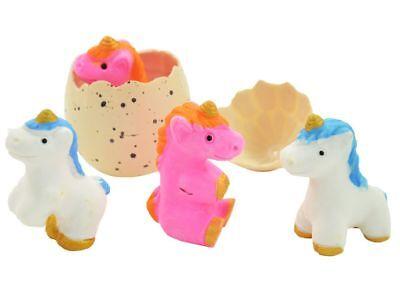 4 Stück  Einhorn im Ei wachsendes Unicorn Magische Neu OVP