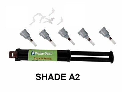 DENTAL ADHESIVE CEMENT LUTING DUAL CURE AUTOMIX SYRINGE A2 PRIME DENT