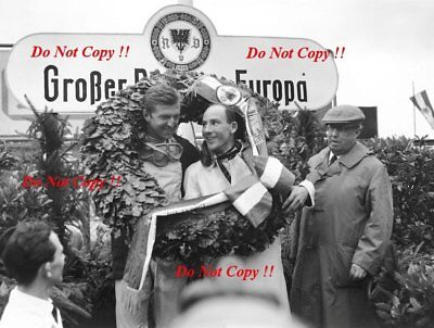 Stirling Moss & Wolfgang Von Trips German Grand Prix 1961 Photograph 1