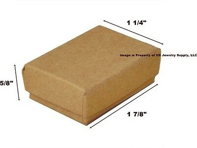 Lot Of 500 Small Kraft Brown Cotton Fill Jewelry Gift Boxes 1 78 X 1 14 X 58