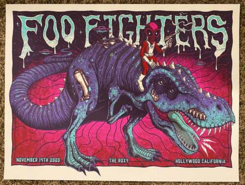 Foo Fighters Poster 11/14/2020 The Roxy Hollywood CA Numbered #/1580