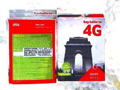 New  4G Vodafone Indian Sim Card For Internet Voice India  Micro Regular Nano