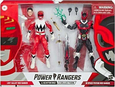 Collection In Space Psycho Red Ranger and Lost Galaxy Red Ranger Action Figures