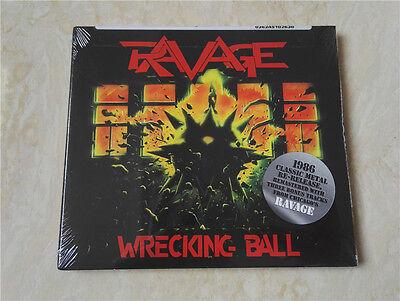 RAVAGE-WRECKING BALL-STILL SEALED-2010 re-release 3 bonus track heavy metal rare