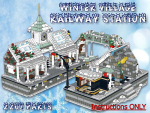 lego winter village railway station instructions only fits 10259 10222 etc