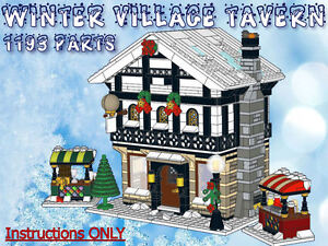 Lego Winter Village Tavern -INSTRUCTIONS ONLY- fits 10216 10222 10249 10199 etc