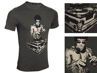 Avengers Iron Man Tony Stark Bruce Lee Heavy Metal Grau Summer T-shirt Gongfu ()