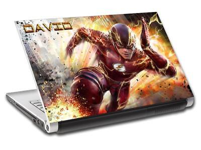 Personalized Stickers Cheap (The Flash Marvel Personalized LAPTOP Skin Decal Vinyl Sticker ANY NAME)