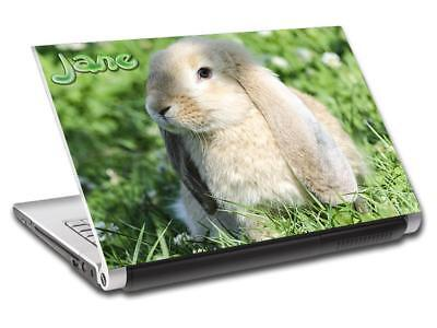 Bunny Personalized LAPTOP Skin Decal Vinyl Sticker ANY NAME Rabbit Animals L662 Bunny Skin