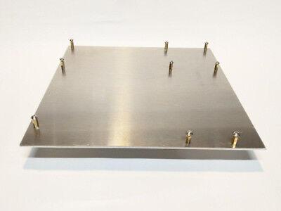 """Micro-ATX Aluminum Motherboard Tray w/ standoffs 9.5""""x9.5""""x0.090"""""""