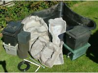 Pre-formed pond liner with extras