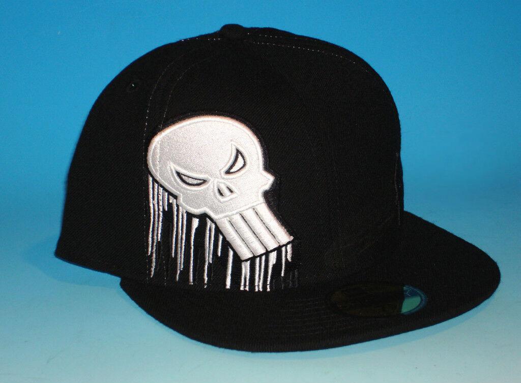 Era 59fifty Punisher Custom Fitted Hat Size 7 3/8 Marvel Comics Black Skull