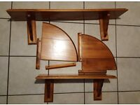 Set of 4 Solid Pine Wall Shelves or buy individually