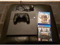 Playstation 4 for sale with two games