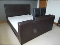 Free delivery available - Leather King TV Bed and mattress