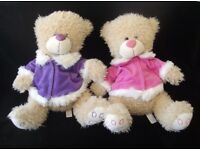 Pair of 16 inch tall Cuddles Collectible Bears.