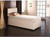 "** FAST & FREE DELIVERY ** Single Bed With 10"" White Orthopedic Mattress"