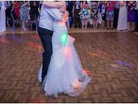 Plastic, parquet effect dance floor 18ft x 18ft