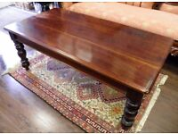 LARGE SOLID MAHOGANY COFFE TABLE - WE CAN DELIVER