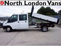 FORD TRANSIT TIPPER 2.2 350 - Double Cab - Electric Windows, Speaker System, with Dropsides