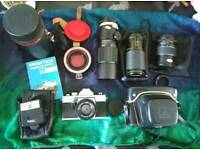 Praktica Super TL1000 Camera with Lenses