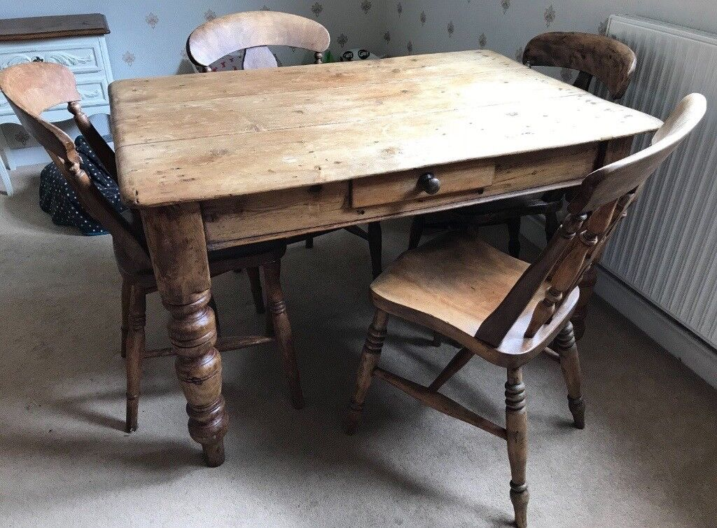 Beautiful Rustic Farmhouse Dining Table 4 Chairs Vintage Set In Tewkesbury Gloucestershire Gumtree