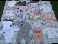 0 to 3 months baby girls clothes
