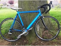 Italian Racing Bike with Carbon Fibre Forks. Large size