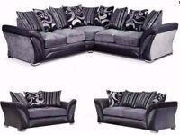 100% Price Match! Brand New Shannon 3 Seater & 2 Seater sofa or Corner Unit -- Chenille Fabric Sofa