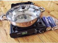 Portable Butane Gas Cassette Cooker Stove w/ Carrying Case, Perfect for hotpot, camping