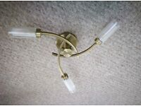 CEILING LIGHT FITTING LAMP LED BRASS EFFECT WITH BULBS