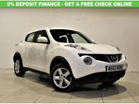 NISSAN JUKE 1.6 VISIA 5d 93 BHP + ONLY 1 PREVIOUS OWNER (white) 2013