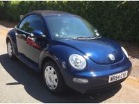 Very low mileage convertible beetle,super condition,electric windows, radio CD plus CD cassette