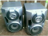 Sony 250watt SS-BX5 subwoofer speakers, 2 subs and a tweeter in each unit 6ohms imp.