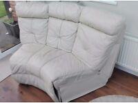 Corner Sofa Cream Leather