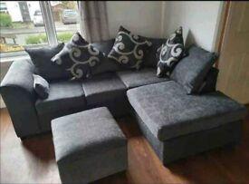❤️💖🤍Brand New Dylan Premium Fabric 3+2 / Corner Sofa / Swivel Chair / Footstool