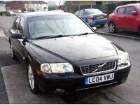 Volvo S80 2004 2.4l diesel D5, manual, black, full cream leather, 182 000 mileage, good condition