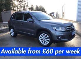 Volkswagen Tiguan (RAV 4 Kuga Qashqai X3 X1 ASX Sportage) £60 per week