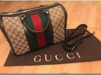 Gucci Boston Bag - Vintage Web Original GG - NEW