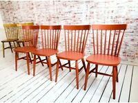 Any Farrow & Ball Kitchen Dining Chairs Painted Spindle Back Rustic Mid-Century Modern Living