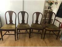 Vintage / antique 4 chairs ( 3 chairs +1 with arm chair ) £200 Collection from N17 6HL