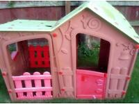 Wendy house and slide for sale. Kids outdoor play set