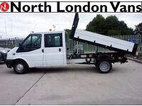 FORD TRANSIT TIPPER 2.2 350 - Double Cab - Electric Windows, Speaker System, with Dropsides.