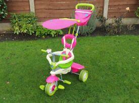 Smart Trike in Green & Pink.