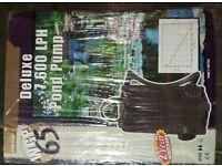 1,500 gal PH (7,600 LPH) Pond Pump, Unused in Packaging, Efficient, Powerful, Reliable