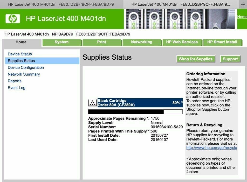 HP LaserJet Pro 400 A4 Mono Duplex Laser Printer - Ethernet & Usb CF278A  Workgroup Laser Printer   in Southwark, London   Gumtree